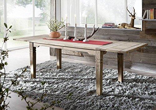 Kolonialart Massivholz Möbel Palisander grau Esstisch ♥ Sheesham Esstisch Ausziehbar ♥