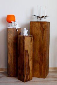 blumenst nder holz wie soll ich meinen blumenst nder dekorieren. Black Bedroom Furniture Sets. Home Design Ideas