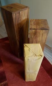 Blumensäule aus Holz Palisander Alle 3