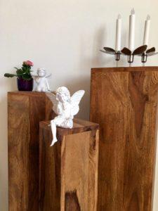 Blumenständer mit Engel und Fee II