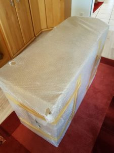Sheeshamholz Tisch -Die Verpackung