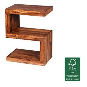 FineBuy Beistelltisch Massiv-Holz Sheesham ♥ Sheesham Beistelltisch ♥ Sheesham ♥ Sheesham Massivholz