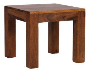 WOHNLING Couchtisch Massiv-Holz Sheesham ♥ Sheesham Beistelltisch ♥ Natur ♥ Sheesham Massivholz