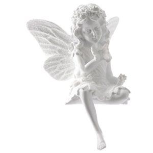 Poly-Elfe Dekofigur | weiß | 13x12x18cm