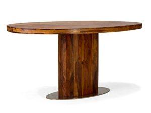 Massivum 10012890 Esstisch Cubus oval aus Palisander Holz, honig
