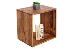 Cube MAKASSAR II Sheesham stone finish ♥ Sheesham Beistelltisch ♥ Sheesham Holz massiv, lackiert