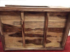 Sheeshamholz Tisch 90 x 60 von unten